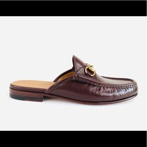 GUCCI Quentin Open Roos Horsebit Backless Loafers